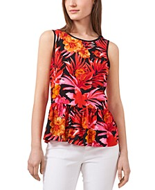Tropical Amber Sun Printed Top, Created for Macy's