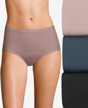 Women's 3-Pk. Multi Fresh & Dry Leak Protection Liner Brief Period Underwear