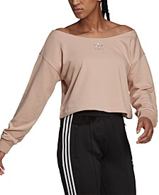 Women's Embellished Boat-Neck Sweatshirt