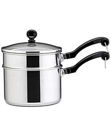 Classic Stainless Steel 2-Qt. Saucepan & Double Boiler