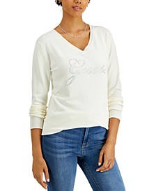 Doriane Rhinestone-Logo Sweater