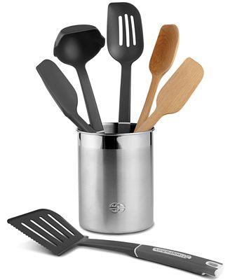 calphalon 7 piece mixed kitchen utensil set - kitchen gadgets