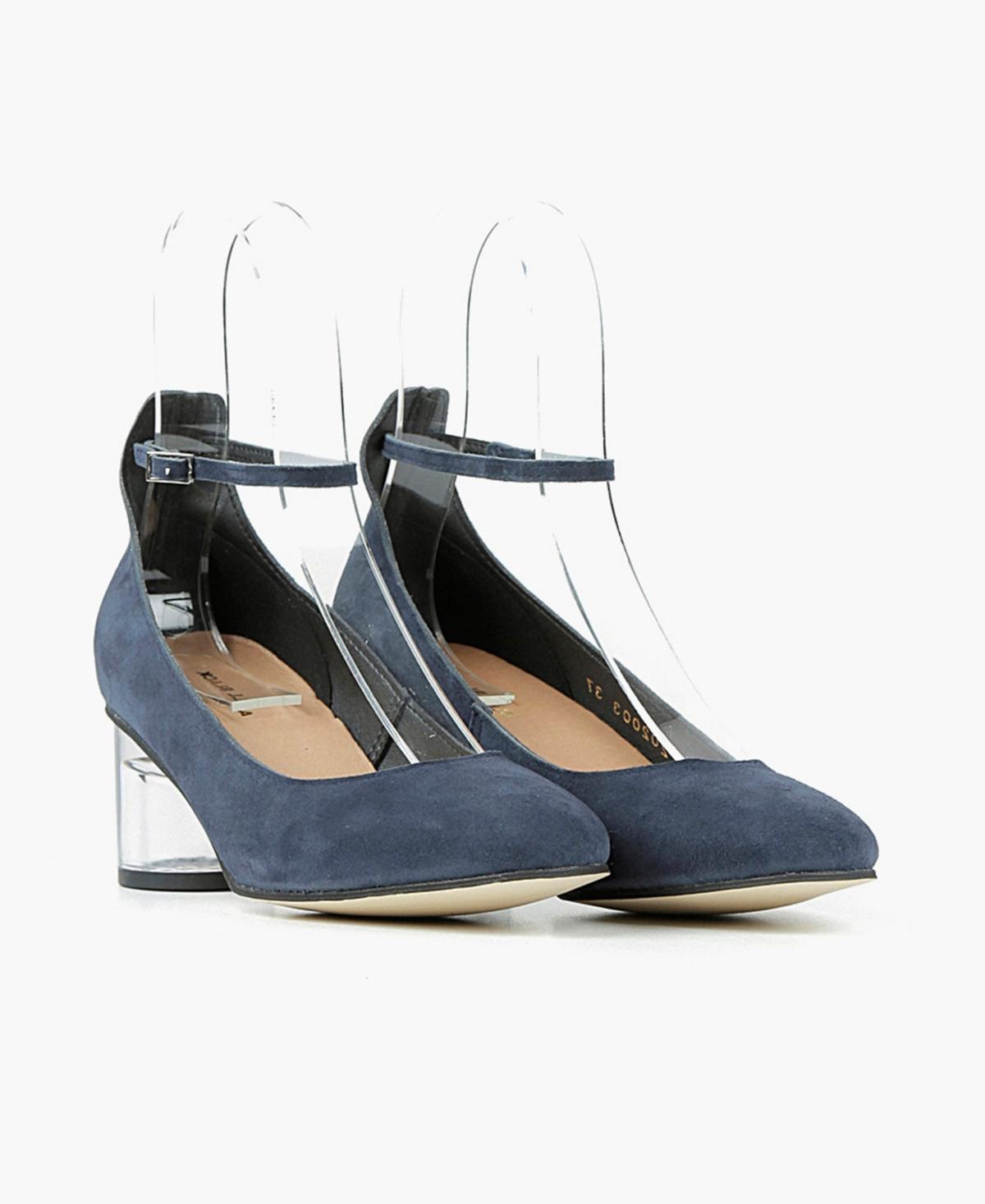 All Black Women's Classy Cylinder Lucite Heel Pumps Women's Shoes