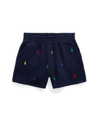 폴로 랄프로렌 걸즈 반바지 Polo Ralph Lauren Big Girls Polo Pony Fleece Shorts,French Navy