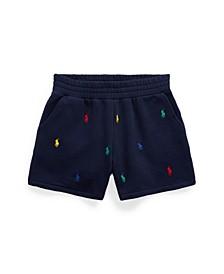 Big Girls Polo Pony Fleece Shorts