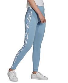 Women's Floral 3-Stripe Leggings
