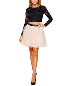 Juniors' Lace 2-Piece Dress