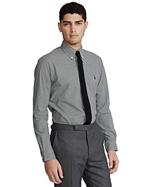 Men's Slim Fit Striped Stretch Poplin Shirt