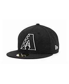 Arizona Diamondbacks MLB Black and White Fashion 59FIFTY Cap