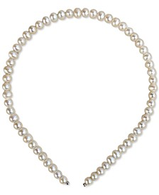 Cultured Freshwater Pearl 6-7mm Headband in Sterling Silver, Created for (Also Available in Pink or Grey)