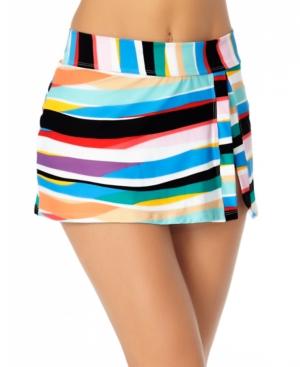 Striped Swim Skirt Women's Swimsuit