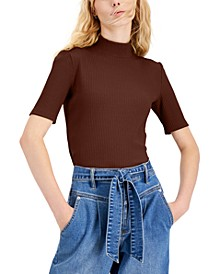 Elbow-Sleeve Mock-Neck Top, Created for Macy's