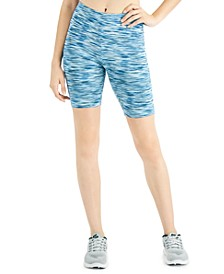 Space-Dyed Bike Shorts, Created for Macy's