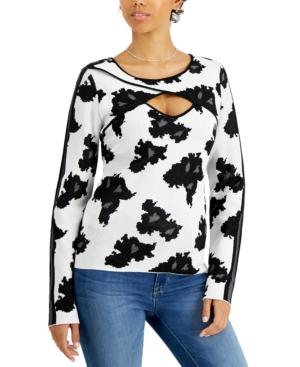 Cutout Jacquard Sweater