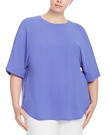 Plus Size Cuffed-Sleeve Top