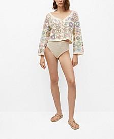 Women's Cotton Crochet Cardigan