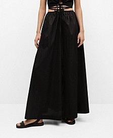 Women's Cotton Flared Skirt