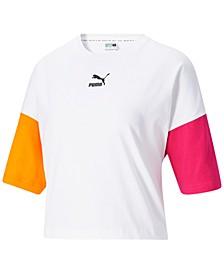 Women's Cotton Cropped Boyfriend T-Shirt