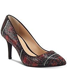 Women's Zitah Embellished Pointed Toe Pumps, Created for Macy's