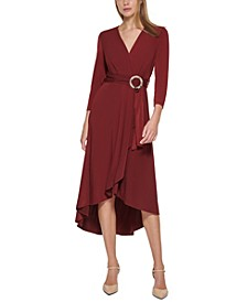 Belted Wrap-Style Dress