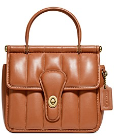 Willis Leather Satchel With Quilting
