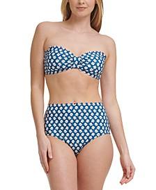 Scalloped Bikini Top & High-Waist Bottoms