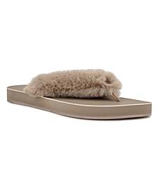 Women's Chilly Furry Flip Flops
