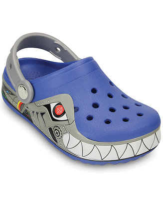 Crocs Boys Crocslights Robo Shark Clogs Shoes Kids