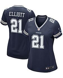 Women's Ezekiel Elliott Navy Dallas Cowboys Game Team Jersey