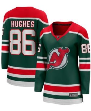 Women's Jack Hughes Green New Jersey Devils 2020/21 Special Edition Breakaway Player Jersey