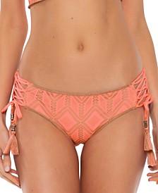 Wanderlust Crochet Lace-Up Hipster Bikini Bottoms