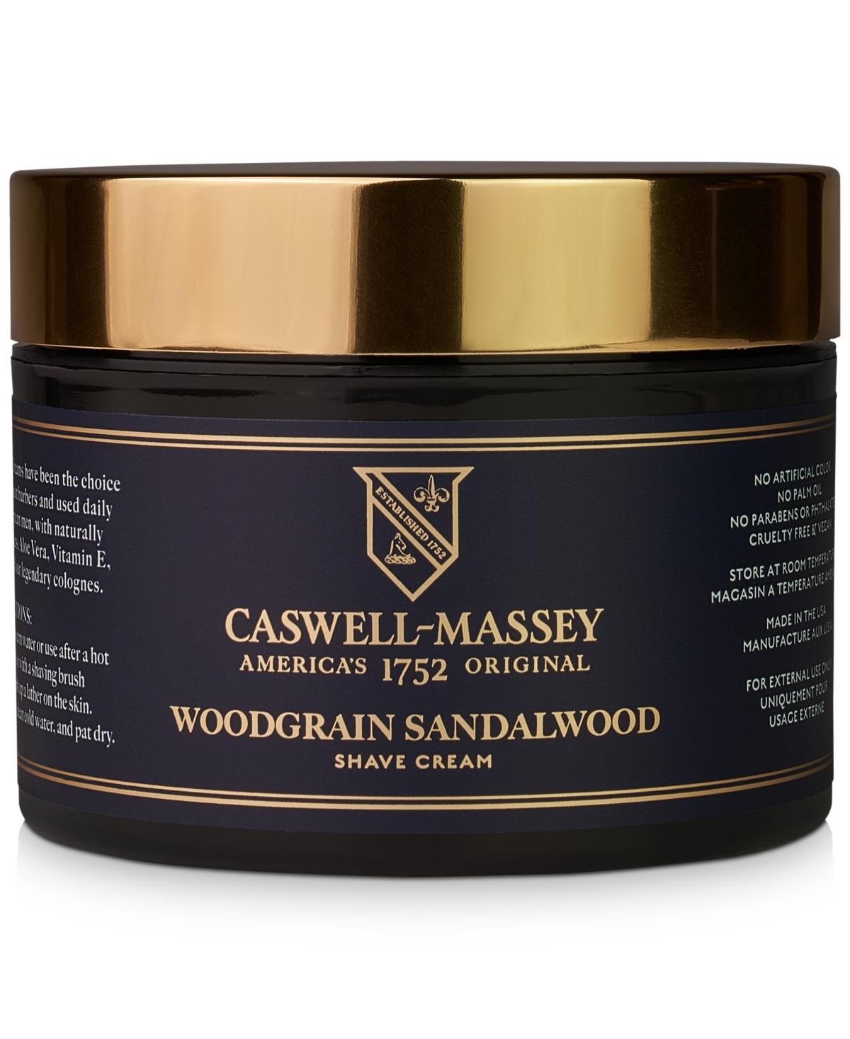 Caswell Massey Heritage Woodgrain Sandalwood Shave Cream, 8-oz.