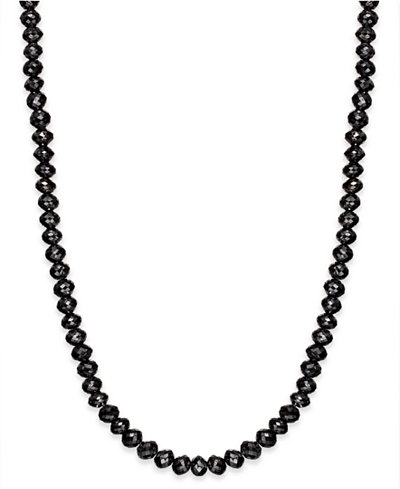 Black Diamond Necklace in 14k White Gold (13 ct. t.w.)