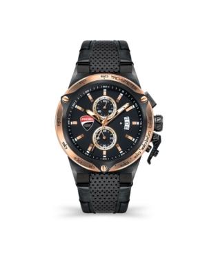 Men's Giro Uno Black Genuine Leather Strap Watch 45mm