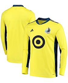 Men's Yellow Minnesota United FC Replica Goalkeeper Long Sleeve Jersey