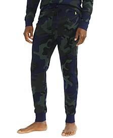 Men's Camo Print Waffle Jogger Pajama Pants