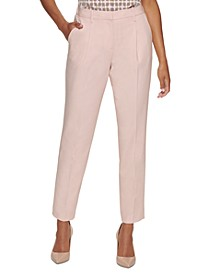 Petite Pleated Front Pants