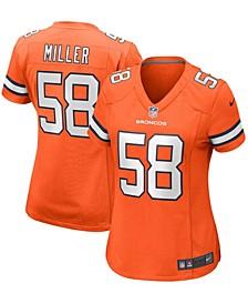Women's Von Miller Orange Denver Broncos Alternate Game Player Jersey