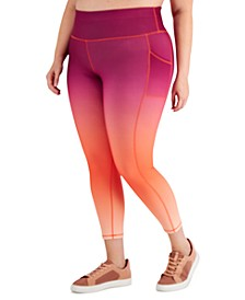Plus Size Ombre-Print Leggings, Created for Macy's
