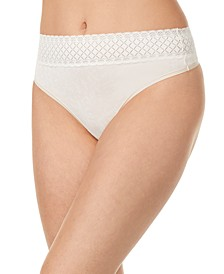 Women's No Pinching. No Problems.® Hi-Waist Thong With Lace RX2241P