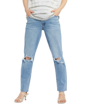 Rene Secret Fit Belly Ripped Maternity Jeans