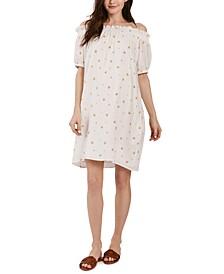 Susanna Off-The-Shoulder Maternity Dress
