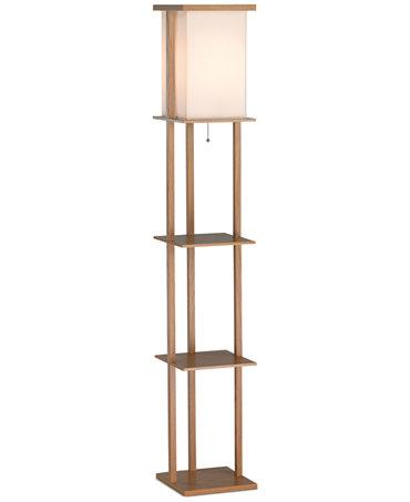 barbery shelf floor lamp lighting lamps for the home macy 39 s. Black Bedroom Furniture Sets. Home Design Ideas