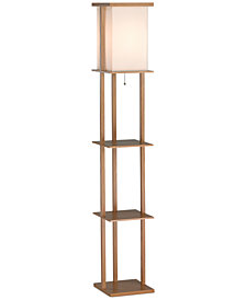 Adesso Barbery Shelf Floor Lamp