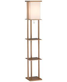 Adesso Barbery Shelf Floor Lamp