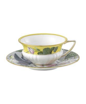 Wonderlust Waterlily 2 Piece Teacup Saucer Set
