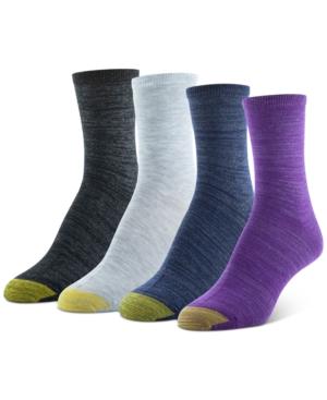 4-Pk. Shimmer Heather Crew Socks