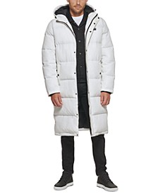 Men's Quilted Extra Long Parka Jacket