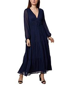 Clip-Dot Maxi Dress