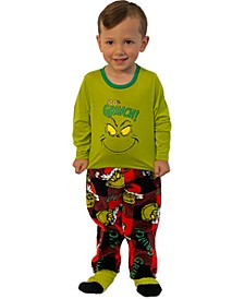 Matching Toddler Boys 3-Pc. Grinch Family Pajama Set